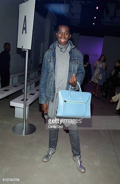 TV personality Miss J Alexander attends the Georgine Fall 2016 fashion show during New York Fashion Week The Shows at The Gallery Skylight at...