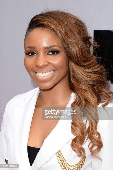 TV personality Miss Mykie attends the Ford Red Carpet at the 2013 BET Awards at Nokia Theatre LA Live on June 30 2013 in Los Angeles California
