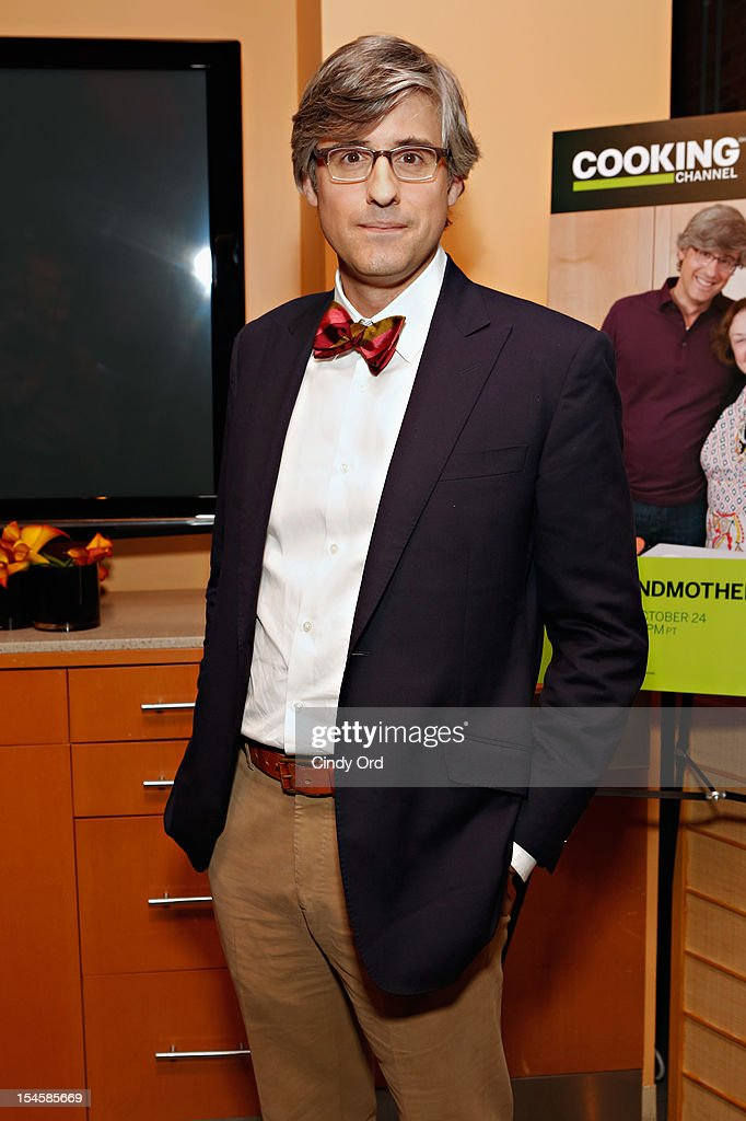 TV personality Mo Rocca attends Mo Rocca's 'My Grandmother's Ravioli' Premiere Party at Food Network Kitchens on October 22 2012 in New York City