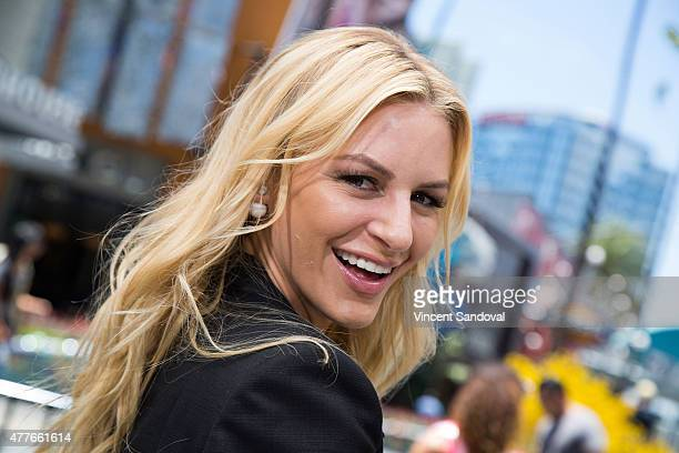 TV personality Morgan Stewart attends 'Extra' at Universal Studios Hollywood on June 18 2015 in Universal City California