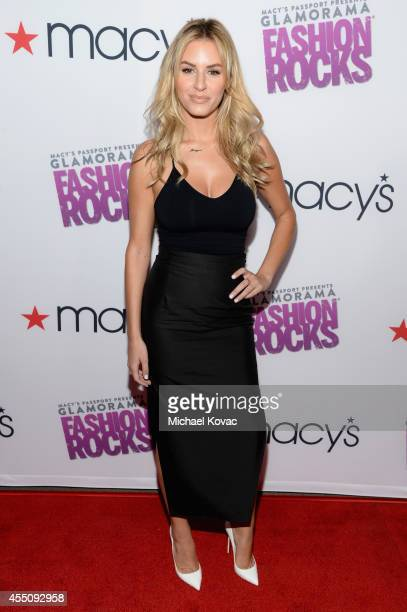 TV personality Morgan Stewart attends Glamorama 'Fashion Rocks' presented by Macy's Passport at Create Nightclub on September 9 2014 in Los Angeles...