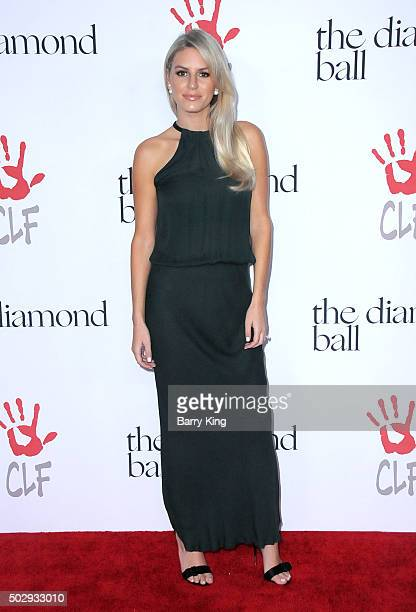 TV Personality Morgan Stewart attends the Rihanna And The Clara Lionel Foundation 2nd Annual Diamond Ball at The Barker Hanger on December 10 2015 in...
