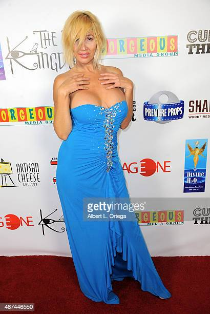 Personality Nadeea arrives for 'A War Is Coming The Lost Kingdom' Industry Gala held at Cupcake Theater on March 18 2015 in Los Angeles California
