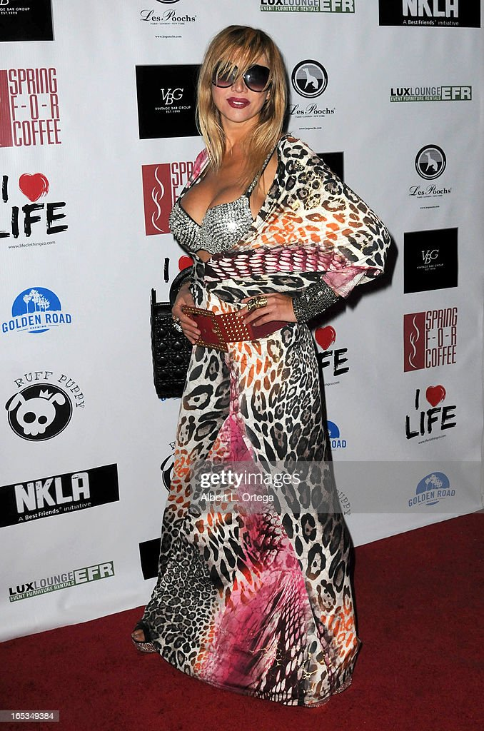 Personality Nadeea arrives for the No Kill LA Charity Event held at Fred Segal on April 2, 2013 in West Hollywood, California.