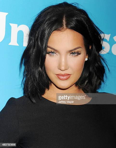 TV personality Natalie Halcro attends the NBCUniversal press tour 2015 at the Beverly Hilton Hotel on August 12 2015 in Beverly Hills California