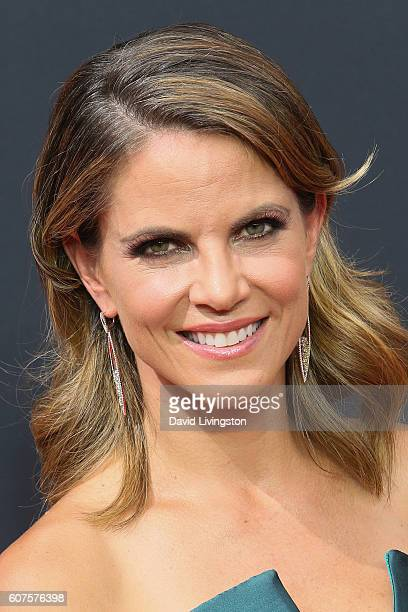 TV personality Natalie Morales arrives at the 68th Annual Primetime Emmy Awards at the Microsoft Theater on September 18 2016 in Los Angeles...