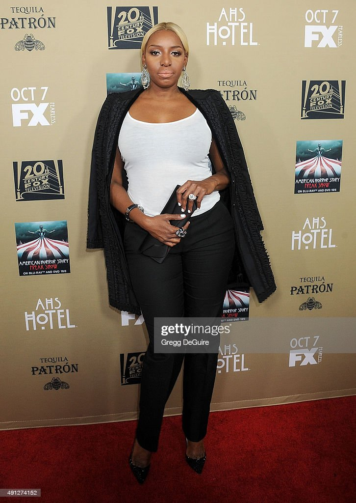 TV personality NeNe Leakes arrives at the premiere screening of FX's 'American Horror Story Hotel' at Regal Cinemas LA Live on October 3 2015 in Los...