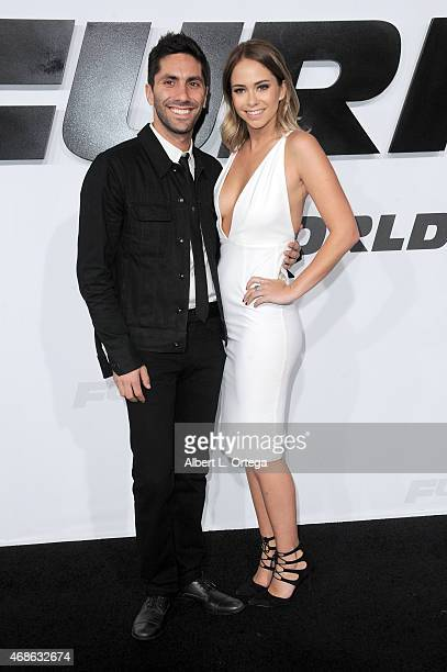 TV personality Nev Schulman and Tully Smyth arrives for the Premiere Of Universal Pictures' 'Furious 7' held at TCL Chinese Theatre on April 1 2015...