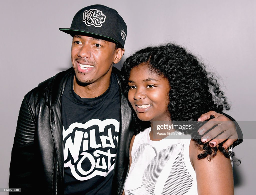 TV personality <a gi-track='captionPersonalityLinkClicked' href=/galleries/search?phrase=Nick+Cannon&family=editorial&specificpeople=202208 ng-click='$event.stopPropagation()'>Nick Cannon</a> (L) and a guest pose during MTV Wild N Out live show during the 2016 BET Experience on June 25, 2016 in Los Angeles, California.