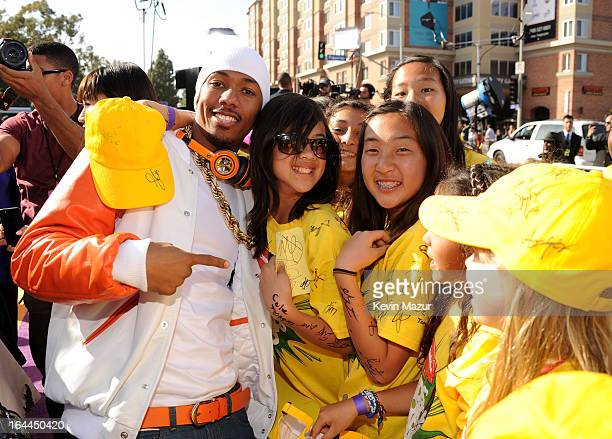 TV personality Nick Cannon arrives at Nickelodeon's 26th Annual Kids' Choice Awards at USC Galen Center on March 23 2013 in Los Angeles California
