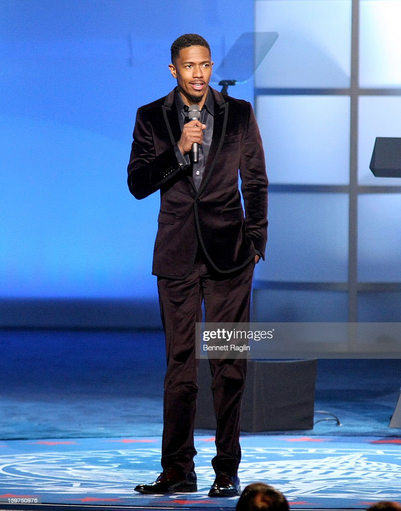 TV personality <a gi-track='captionPersonalityLinkClicked' href=/galleries/search?phrase=Nick+Cannon&family=editorial&specificpeople=202208 ng-click='$event.stopPropagation()'>Nick Cannon</a> attends the 2013 Kids' Inaugural: Our Children, Our Future on January 19, 2013 in Washington, DC.