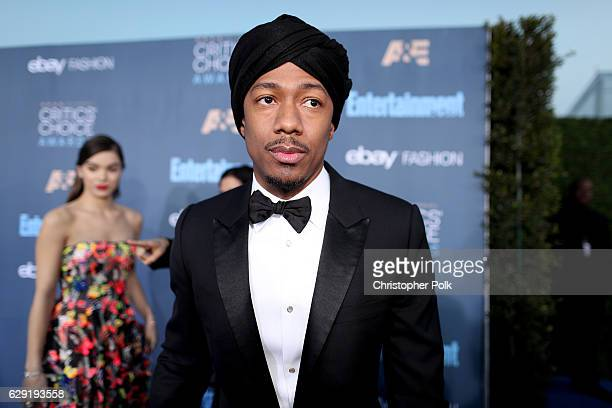 TV personality Nick Cannon attends The 22nd Annual Critics' Choice Awards at Barker Hangar on December 11 2016 in Santa Monica California