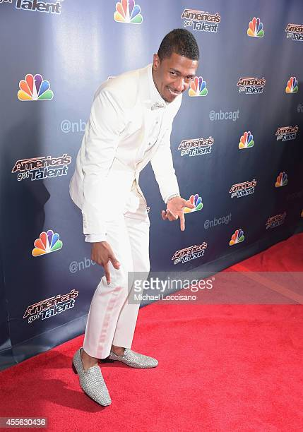 TV personality Nick Cannon attends the 'America's Got Talent' season 9 finale red carpet event at Radio City Music Hall on September 17 2014 in New...