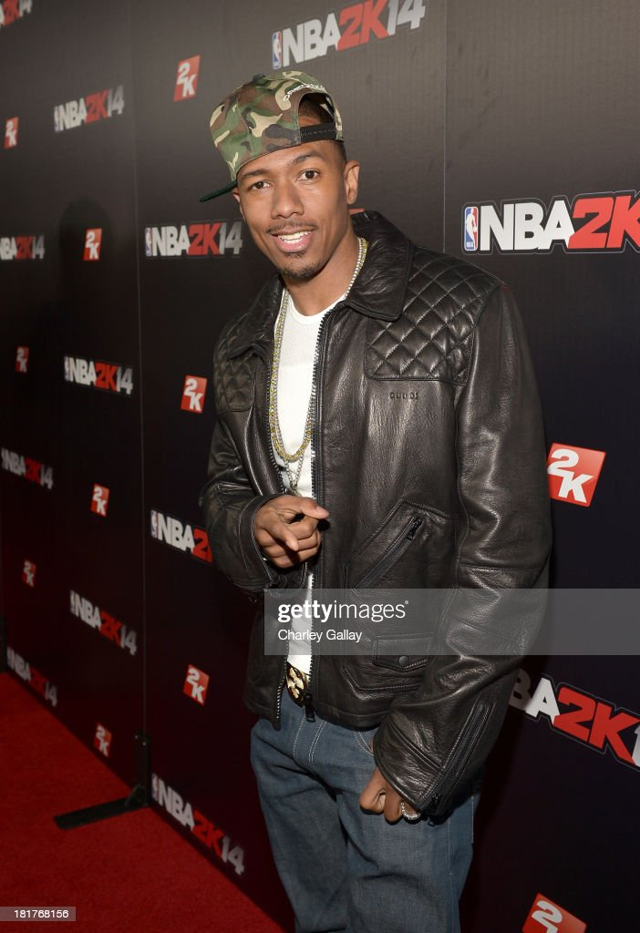TV personality Nick Cannon attends the NBA 2K14 premiere party at Greystone Manor on September 24, 2013 in West Hollywood, California.