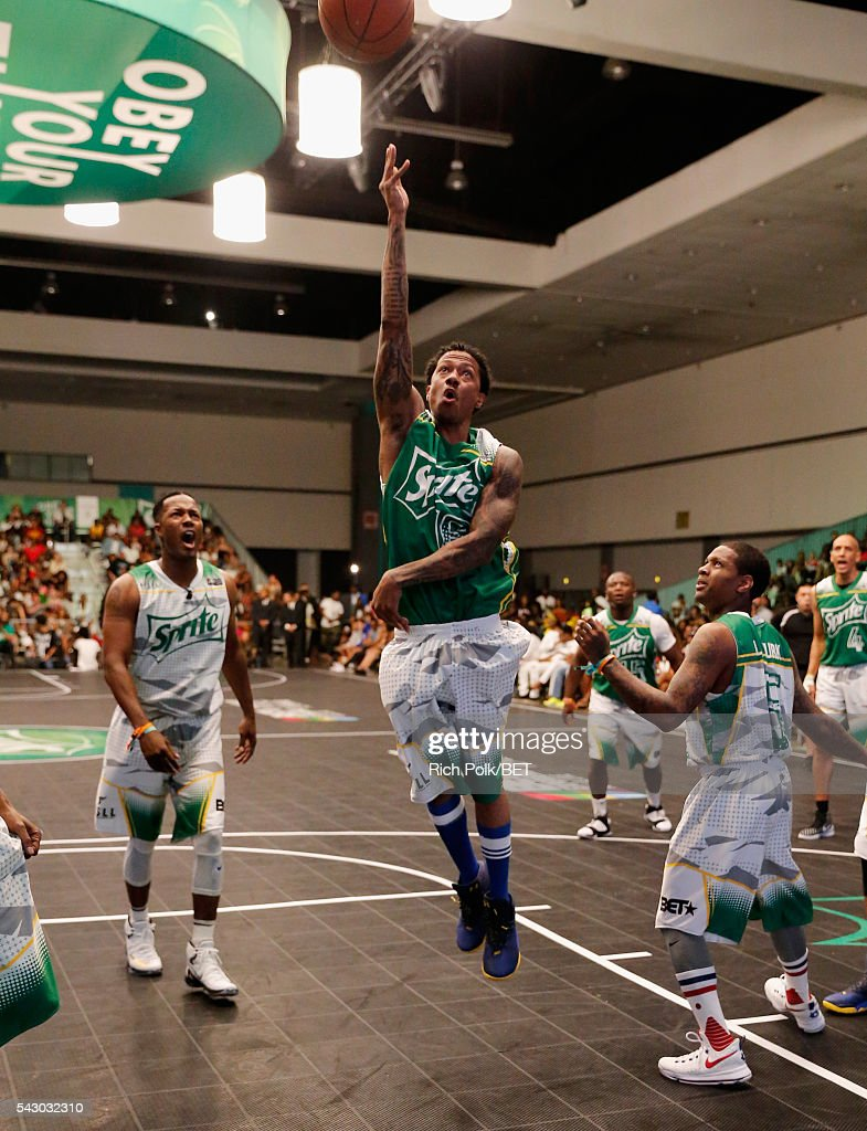 TV personality Nick Cannon participates in the celebrity basketball game presented by Sprite during the 2016 BET Experience on June 25, 2016 in Los Angeles, California.