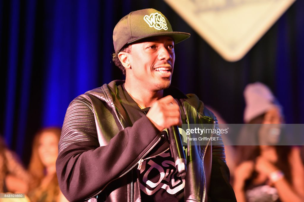 TV personality <a gi-track='captionPersonalityLinkClicked' href=/galleries/search?phrase=Nick+Cannon&family=editorial&specificpeople=202208 ng-click='$event.stopPropagation()'>Nick Cannon</a> performs onstage at MTV Wild N Out live show during the 2016 BET Experience on June 25, 2016 in Los Angeles, California.