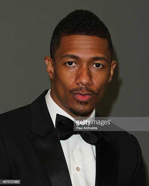 Personality Nick Cannon poses for a photo shoot for the partnership of Ncredible Entertainment and Maxim Magazine at Siren Studios on October 10 2014...