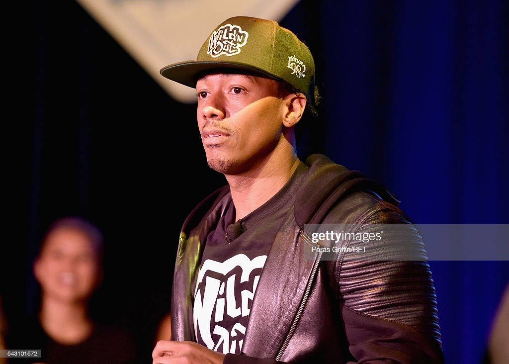 TV personality <a gi-track='captionPersonalityLinkClicked' href=/galleries/search?phrase=Nick+Cannon&family=editorial&specificpeople=202208 ng-click='$event.stopPropagation()'>Nick Cannon</a> speaks onstage at MTV Wild N Out live show during the 2016 BET Experience on June 25, 2016 in Los Angeles, California.