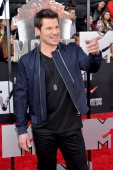 TV personality Nick Lachey attends the 2014 MTV Movie Awards at Nokia Theatre LA Live on April 13 2014 in Los Angeles California