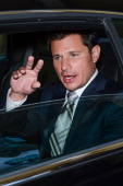 TV personality Nick Lachey leaves the 'Live With Kelly' taping at the ABC Lincoln Center Studios on August 1 2012 in New York City