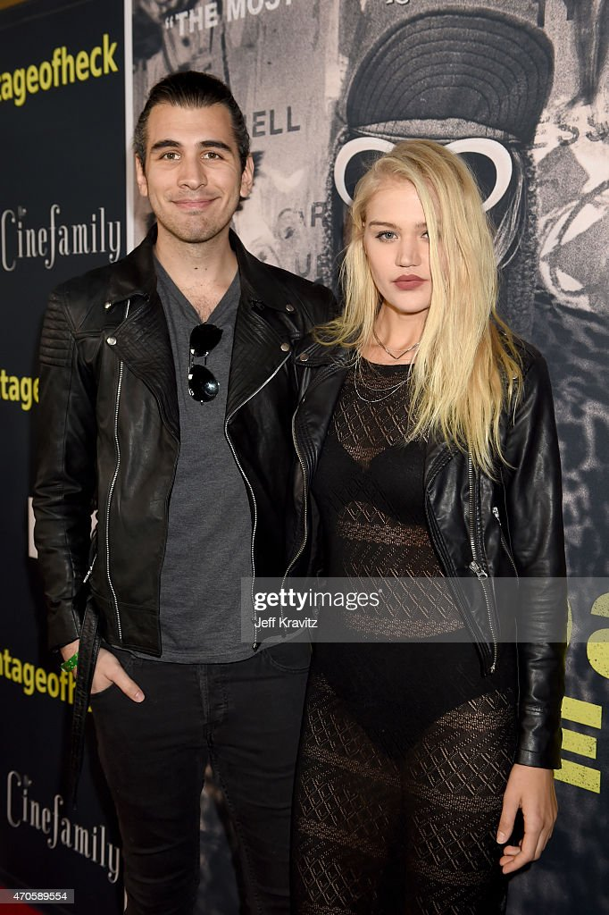 TV personality Nick Simmons (L) and model Rebecca Szulc attend HBO's 'Kurt Cobain: Montage Of Heck' Los Angeles Premiere at the Egyptian Theatre on April 21, 2015 in Hollywood, California.
