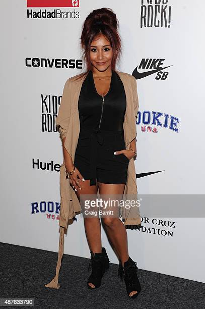 TV personality Nicole Elizabeth 'Snooki' LaValle attends the Nike/Levi's Kids Rock fashion show during Spring 2016 New York Fashion Week at the The...