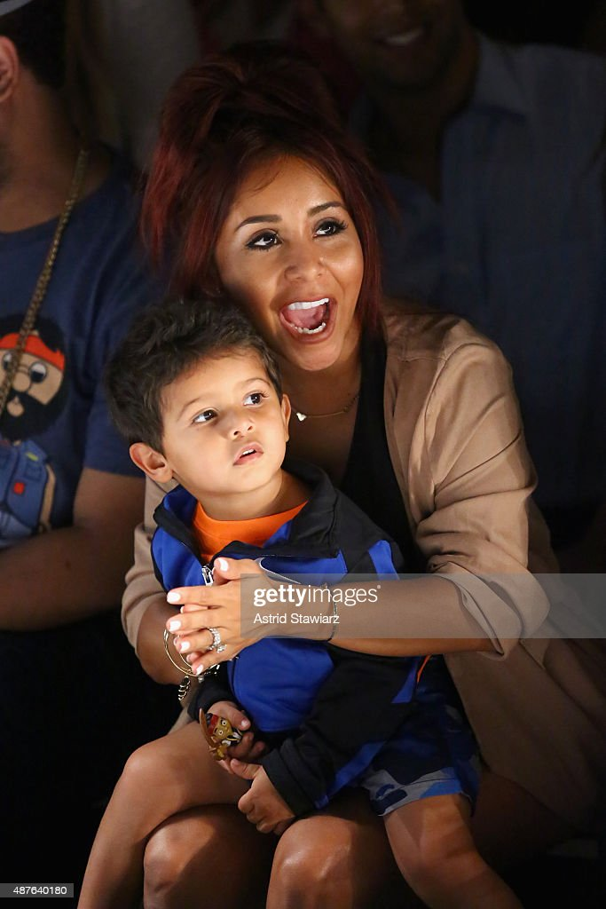 TV personality Nicole Elizabeth 'Snooki' LaValle with son Lorenzo Dominic Lavalle attend the Kids Rock fashion show during Spring 2016 New York...
