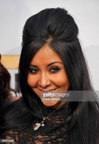 TV personality Nicole Polizzi arrives at Spike TV's 7th Annual Video Game Awards at the Nokia Event Deck at LA Live on December 12 2009 in Los...