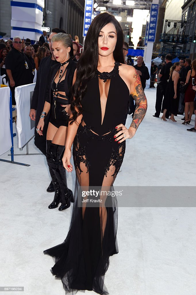 TV personality Nicole Polizzi attends the 2016 MTV Video Music Awards at Madison Square Garden on August 28 2016 in New York City