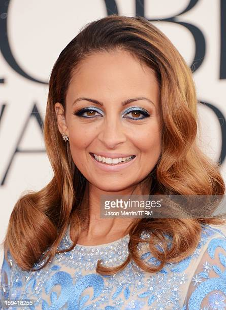 TV personality Nicole Richie arrives at the 70th Annual Golden Globe Awards held at The Beverly Hilton Hotel on January 13 2013 in Beverly Hills...