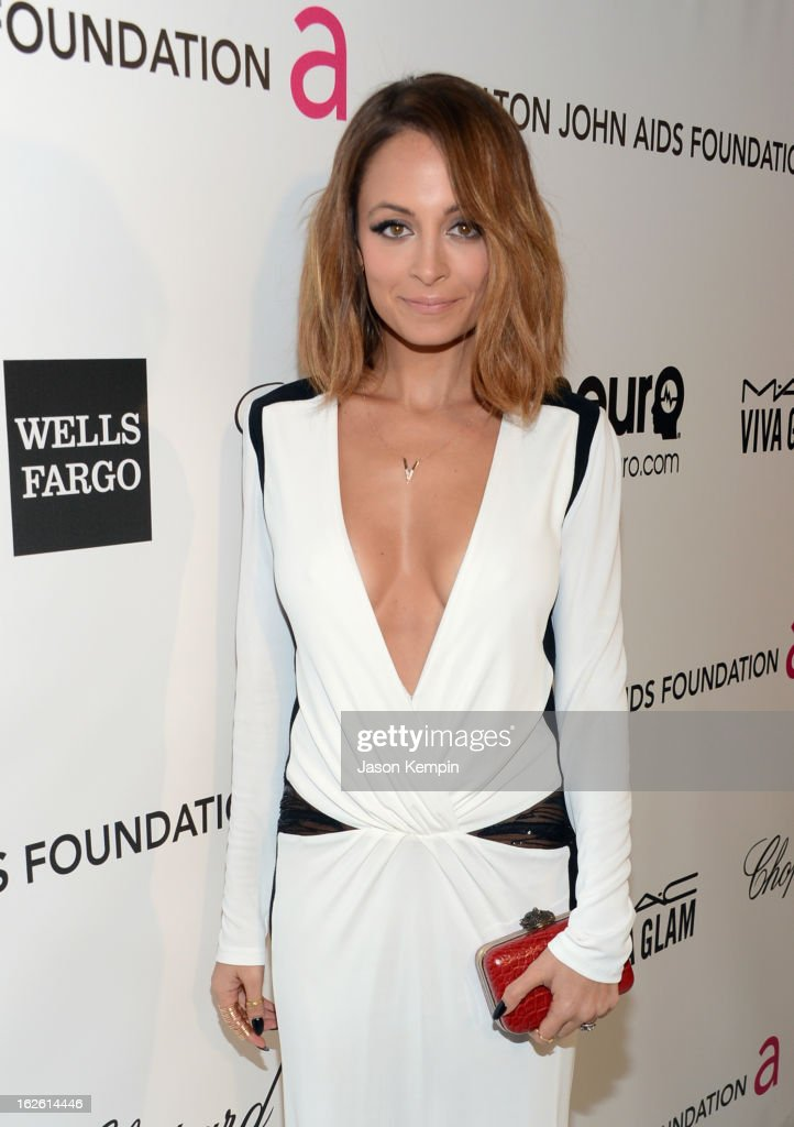 TV personality Nicole Richie attends the 21st Annual Elton John AIDS Foundation Academy Awards Viewing Party at West Hollywood Park on February 24, 2013 in West Hollywood, California.