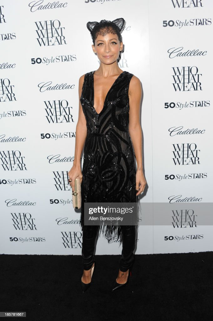 TV personality <a gi-track='captionPersonalityLinkClicked' href=/galleries/search?phrase=Nicole+Richie&family=editorial&specificpeople=201646 ng-click='$event.stopPropagation()'>Nicole Richie</a> attends the Who What Wear and Cadillac's 50 Most Fashionable Women of 2013 event at The London Hotel on October 24, 2013 in West Hollywood, California.