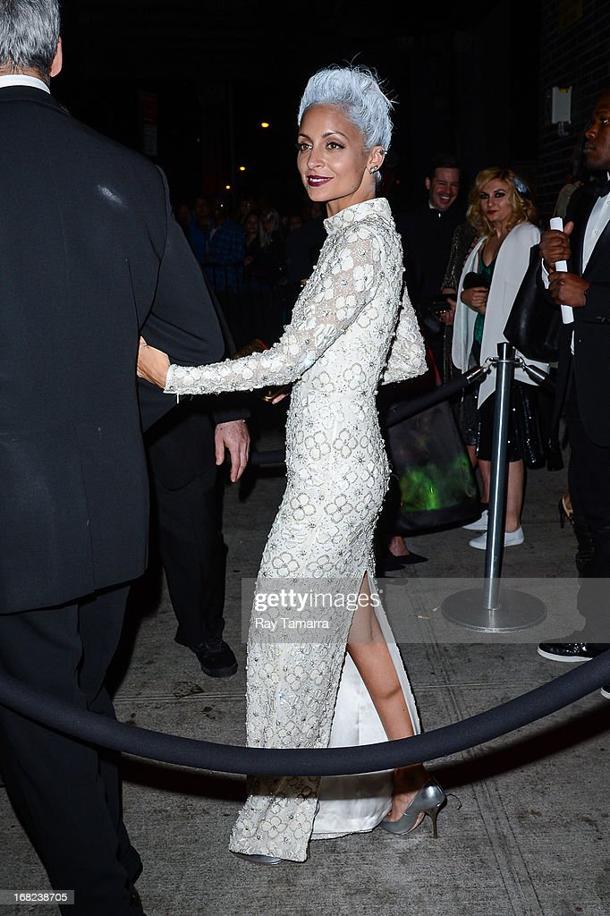 TV personality Nicole Richie leaves the 'PUNK: Chaos To Couture' Costume Institute Gala after party at the Standard Hotel on May 6, 2013 in New York City.