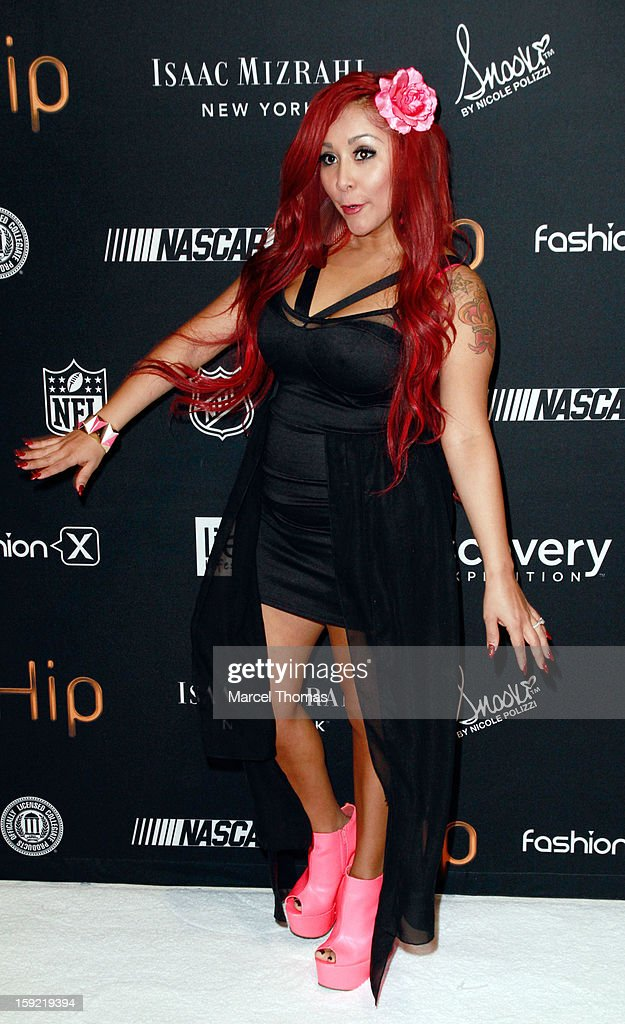 TV personality Nicole 'Snooki' Polizzi announces Couture by <a gi-track='captionPersonalityLinkClicked' href=/galleries/search?phrase=Nicole+Polizzi&family=editorial&specificpeople=6586259 ng-click='$event.stopPropagation()'>Nicole Polizzi</a>, heaphones, earbuds and audio accessories at the 2013 International CES held at the Las Vegas Convention Center on January 9, 2013 in Las Vegas, Nevada.