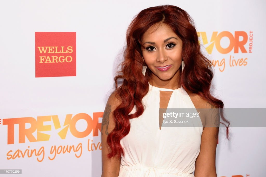 TV personality Nicole Snooki Polizzi arrives for the Trevor Project's 2013 'TrevorLIVE' Event Honoring Cindy Hensley McCain at Chelsea Piers on June 17, 2013 in New York City.