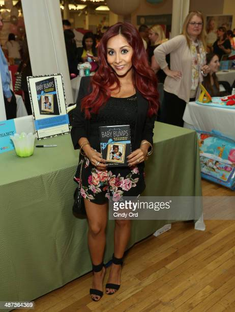 TV personality Nicole 'Snooki' Polizzi attends Big City Moms Biggest Baby Shower on April 29 2014 in New York City