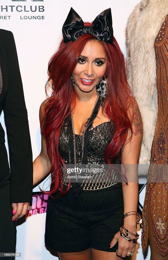 TV personality Nicole 'Snooki' Polizzi attends 'Rupaul's Drag Race' Season 5 Premiere Party at XL Nightclub on January 25, 2013 in New York City.