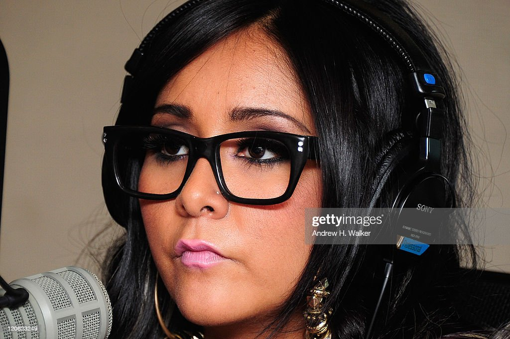 TV personality Nicole 'Snooki' Polizzi visits SiriusXM's studio on August 11, 2011 in New York City.