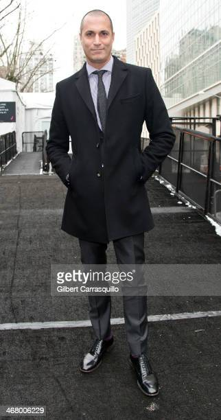 Personality Nigel Barker attends Fall 2014 Mercedes Benz Fashion Week on February 8 2014 in New York City