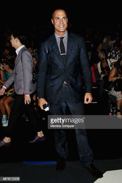 TV personality Nigel Barker attends the Desigual fashion show during Spring 2016 New York Fashion Week The Shows at The Arc Skylight at Moynihan...
