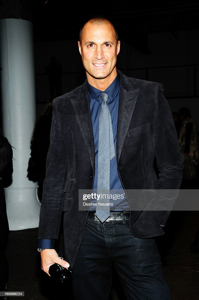 TV Personality Nigel Barker attends Yigal Azrouel during Fall 2013 Mercedes-Benz Fashion Week at Highline Stages on February 8, 2013 in New York City.