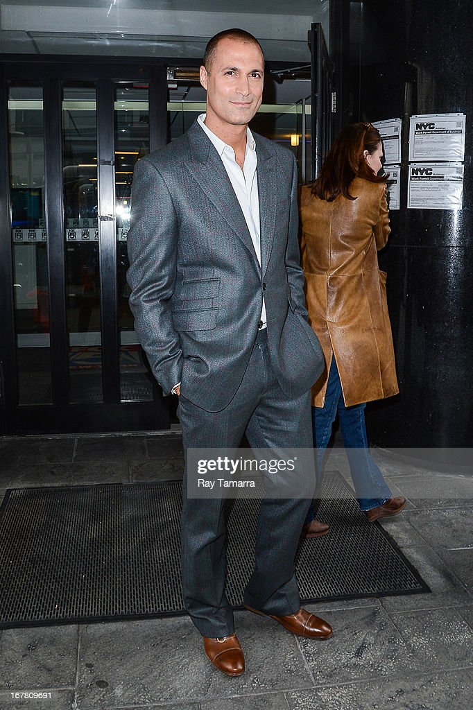 TV personality Nigel Barker leaves the 'Good Day New York' taping at the Fox 5 Studios on April 30, 2013 in New York City.