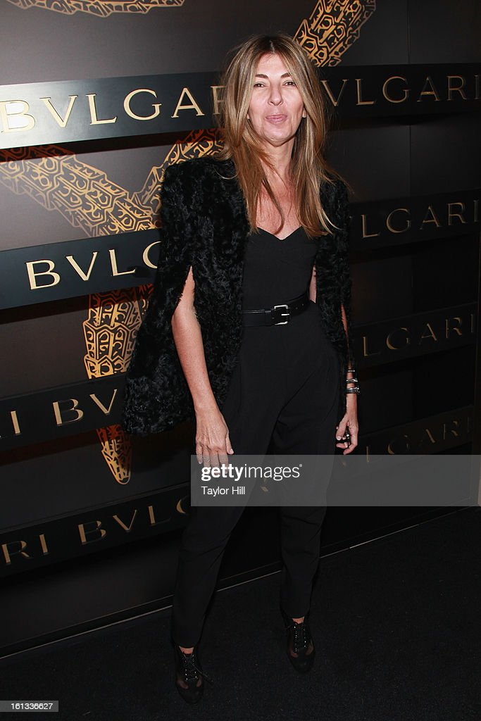 TV personality <a gi-track='captionPersonalityLinkClicked' href=/galleries/search?phrase=Nina+Garcia&family=editorial&specificpeople=592222 ng-click='$event.stopPropagation()'>Nina Garcia</a> attends Bulgari Celebrates Icons Of Style: The Serpenti during Fall 2013 Fashion Week at Bulgari Fifth Avenue on February 9, 2013 in New York City.