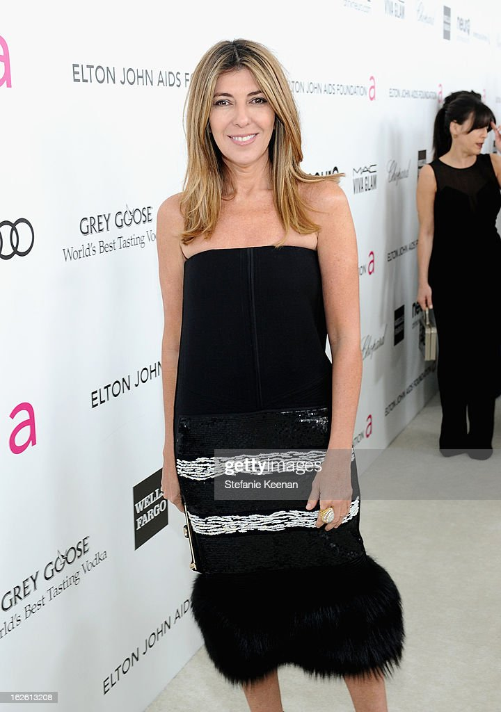 TV personality Nina Garcia attends Chopard at 21st Annual Elton John AIDS Foundation Academy Awards Viewing Party at West Hollywood Park on February 24, 2013 in West Hollywood, California.