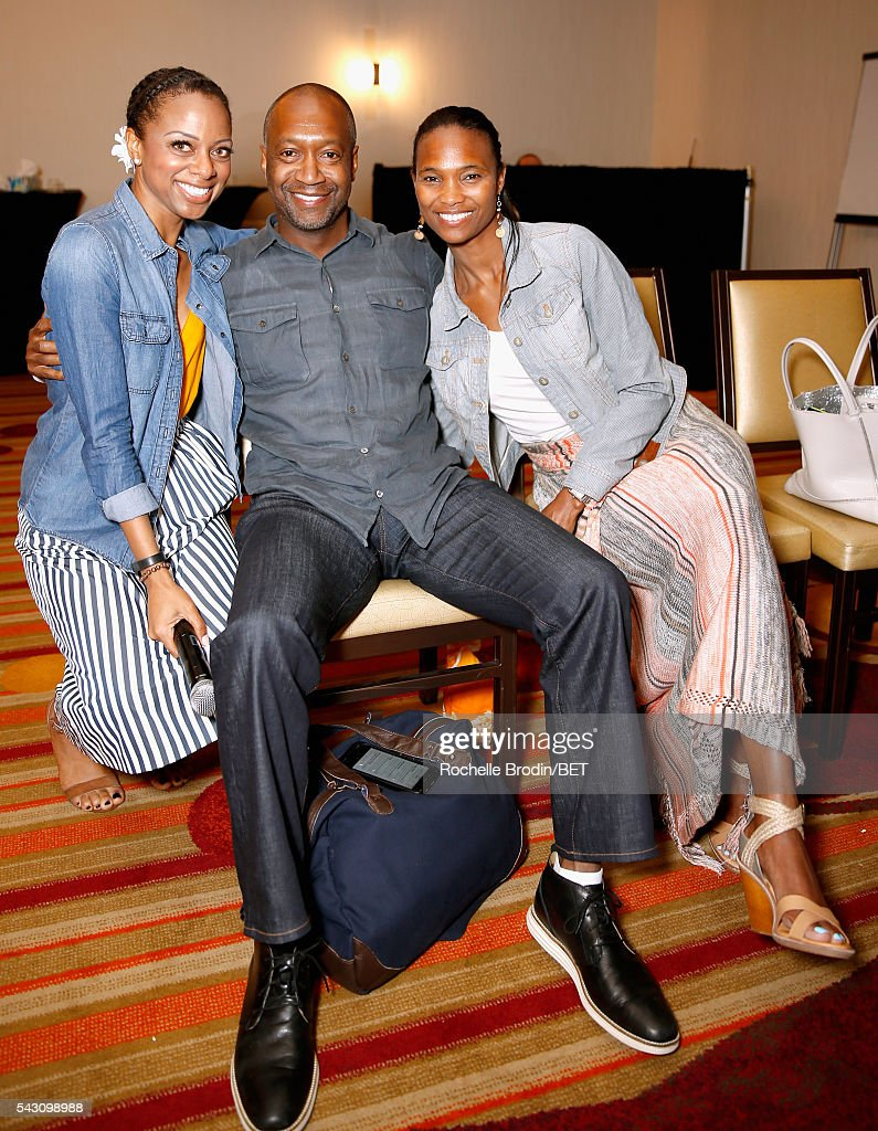 TV personality Nischelle Turner, Film Life Founder and CEO Jeff Friday and food commentator/culinary instructor Nicole Friday attend the ABFF Encore @ BET Experience Screening The Life of a Showrunner / Master Class during the 2016 BET Experience on June 25, 2016 in Los Angeles, California.