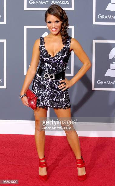 TV personality Olivia Jones arrives at the 52nd Annual GRAMMY Awards held at Staples Center on January 31 2010 in Los Angeles California