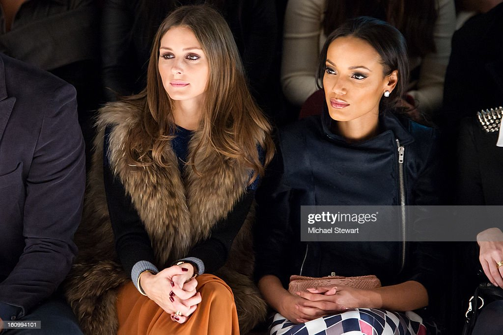 TV personality <a gi-track='captionPersonalityLinkClicked' href=/galleries/search?phrase=Olivia+Palermo&family=editorial&specificpeople=2639086 ng-click='$event.stopPropagation()'>Olivia Palermo</a> (L) and model Selita Ebanks attend Noon By Noor Fall 2013 Mercedes-Benz Fashion Week at The Studio at Lincoln Center on February 8, 2013 in New York City.