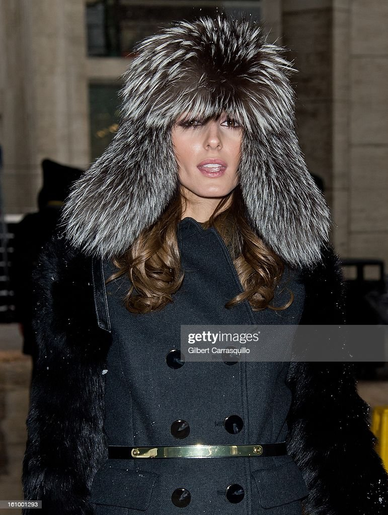TV personality <a gi-track='captionPersonalityLinkClicked' href=/galleries/search?phrase=Olivia+Palermo&family=editorial&specificpeople=2639086 ng-click='$event.stopPropagation()'>Olivia Palermo</a> attends Fall 2013 Mercedes-Benz Fashion Show at The Theater at Lincoln Center on February 8, 2013 in New York City.