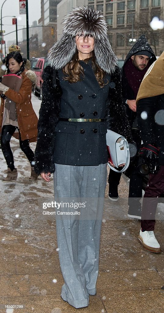 TV personality Olivia Palermo attends Fall 2013 Mercedes-Benz Fashion Show at The Theater at Lincoln Center on February 8, 2013 in New York City.