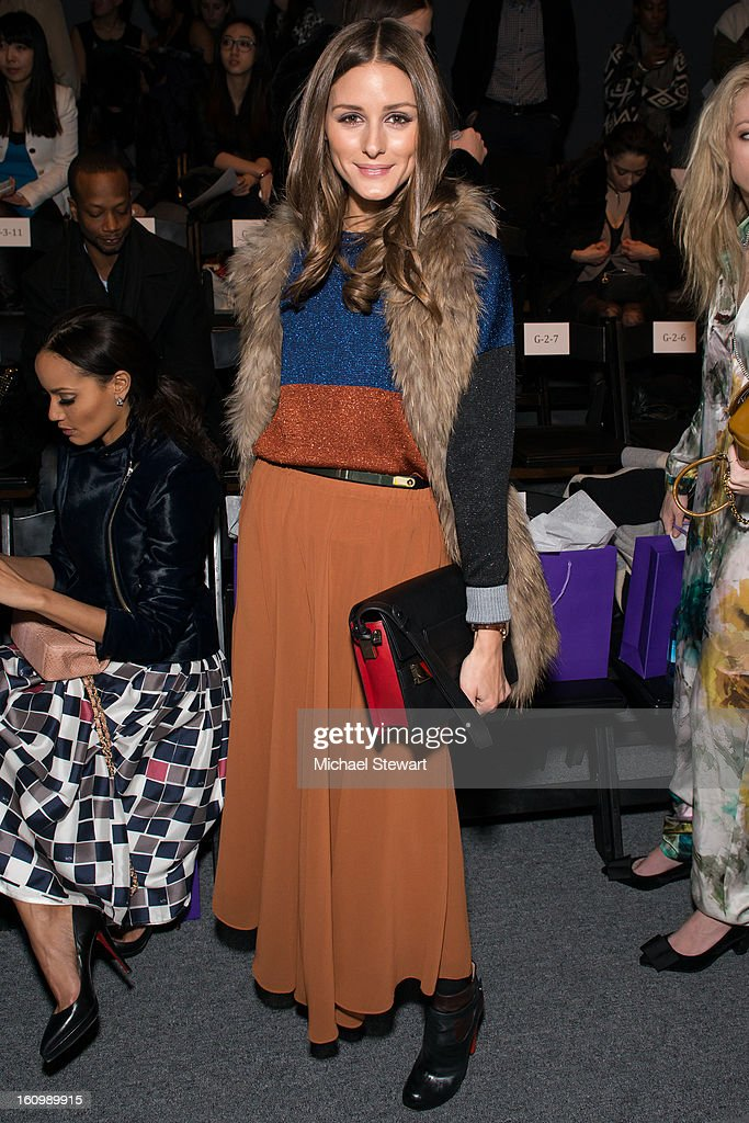 TV personality Olivia Palermo attends Noon By Noor Fall 2013 Mercedes-Benz Fashion Week at The Studio at Lincoln Center on February 8, 2013 in New York City.